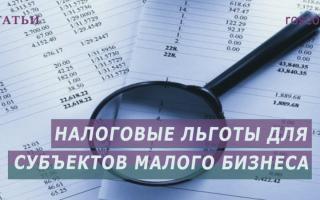 Льготы малым предприятиям по налогообложению