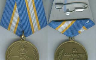 Медаль за содружество во имя спасения льготы